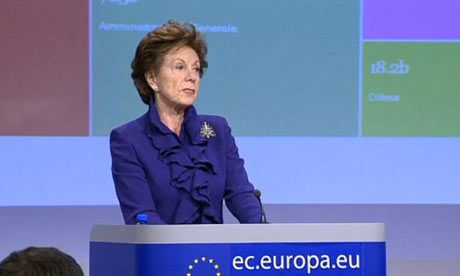 Neelie Kroes making EC open data announcement