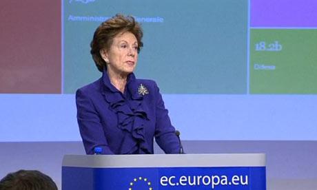 Neelie Kroes making EC open data announcement
