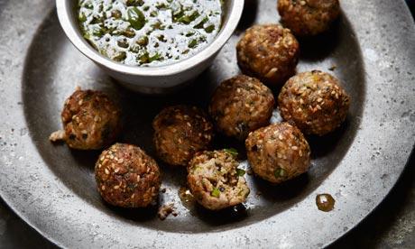 pork meatballs with guacamole recipes dishmaps spiced pork meatballs ...