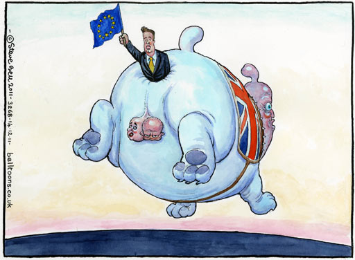 14.12.11: Steve Bell on David Cameron's 'bulldog spirit' at EU summit