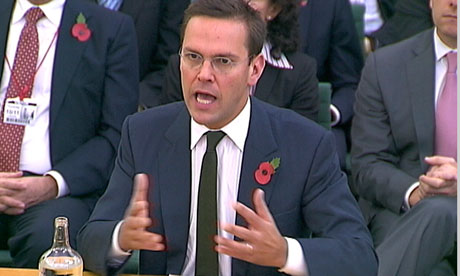 James Murdoch speaks to MPs