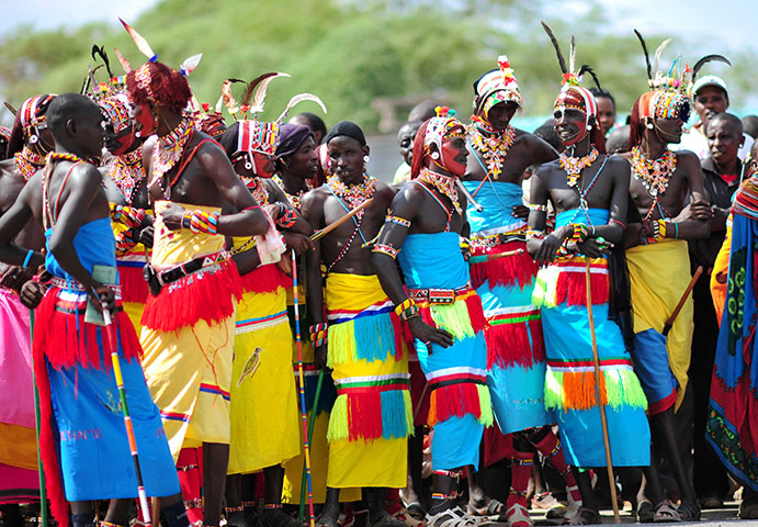 Samburu People: Samburu tribal people of Kenya