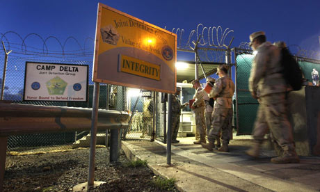 Americans can be arrested on home soil and taken to Guantánamo Bay under a provision inserted into the bill that funds the US military. Photograph: John Moore/Getty