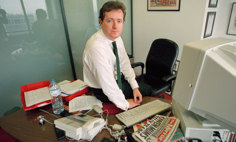 Piers Morgan when he was editor of the Daily Mirror
