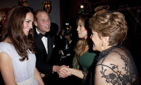 The Duke and Duchess of Cambridge with Jennifer Lopez and her mother Guadalupe Lopez
