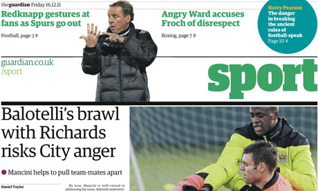 The Guardian's sport section