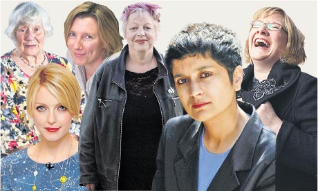 Shirley Williams, Sarah Montague, Jo Brand, Sarah Millican, Shami Chakrabarti and Lauren Laverne.