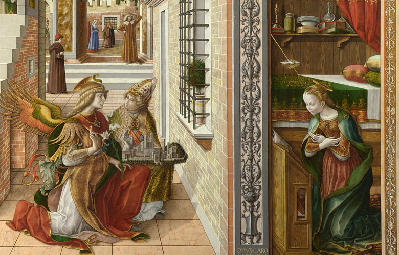 Carlo Crivelli's The Annunciation, with Saint Emidius