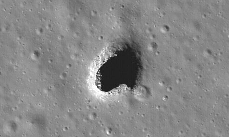 A pit in Mare Ingenii on the moon