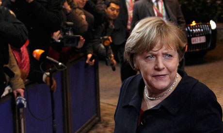 Germany's Chancellor Merkel arrives at an European Union summit in Brussels