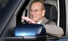 Prince Philip departs from Papworth hospital to rejoin the royal family at Sandringham