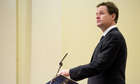 Nick Clegg delivers Demos lecture