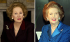 Meryl Streep as Thatcher (left) and Thatcher herself