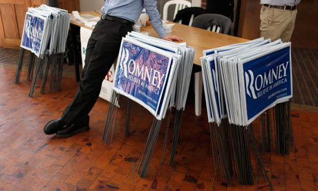Romney signs in Iowa