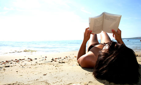 beach and read book