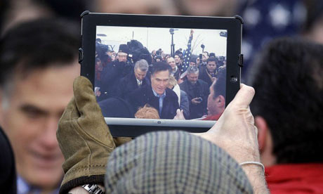 Mitt Romney on an iPad