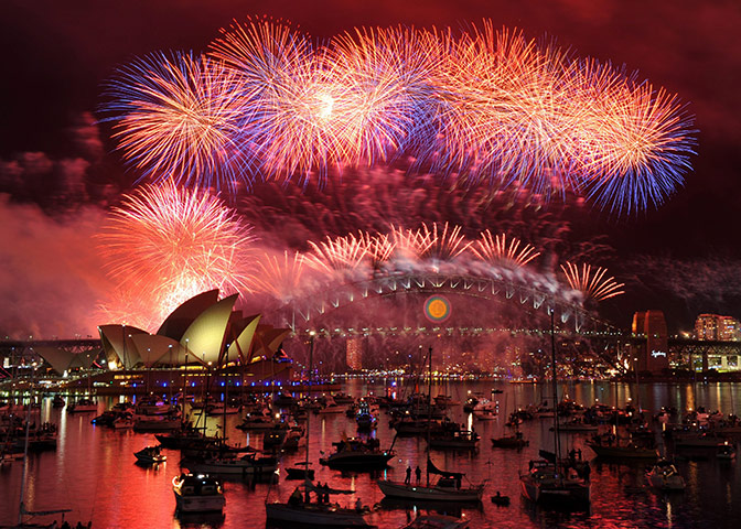 New Year celebrations: New Years Eve fireworks in Sydney