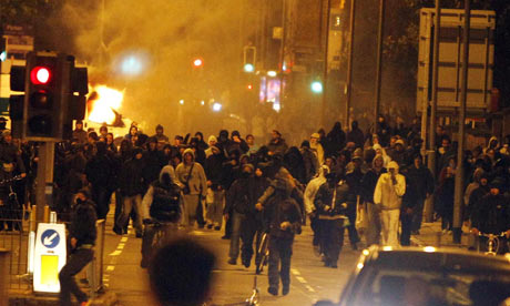 Rioting in Toxteth, Liverpool, in August.