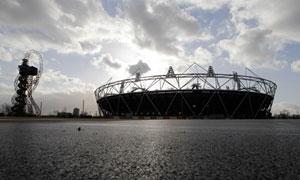 London Olympics site and ArcelorMittal Orbit, 3 December 2011.