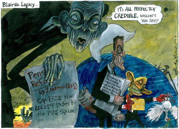 Martin Rowson cartoon, 05.12.2011