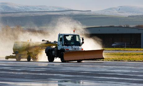 Snow plough in Edinburgh