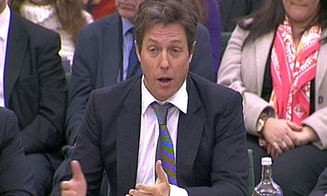 The Hugh Grant tour rolled into the House of Commons on Monday.