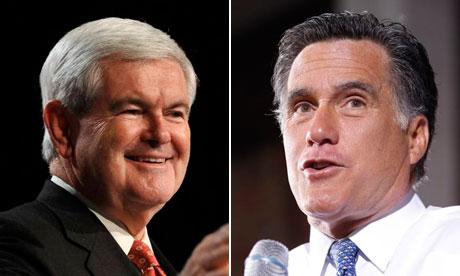 Newt Gingrich, Mitt Romney composite