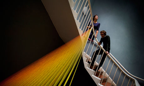 Gabriel Dawe installation at Courtauld Institute
