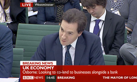 George Osborne gives evidence to the Treasury committee