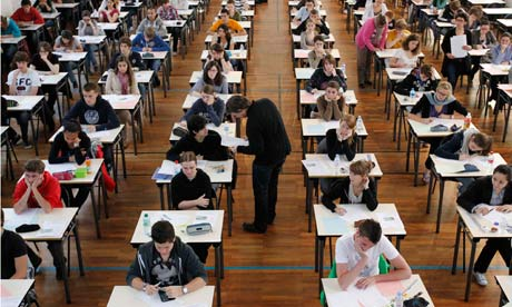 Students sit for the philosophy baccalaureate exam