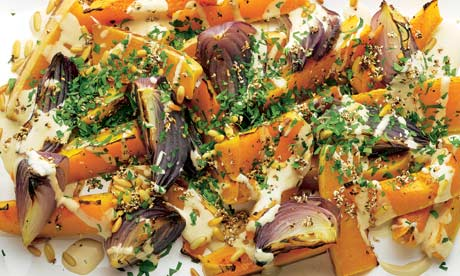 Roasted Butternut Squash And Red Onion With Tahini And Za'Atar Recipes ...