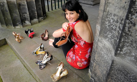 Kapka Kassabova with her tango shoes
