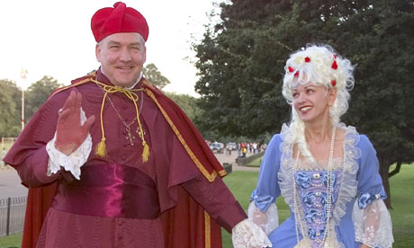 Conrad Black and Barbara Amiel at a fancy dress party, 2000.