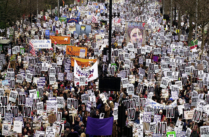 Anti Iraq war march, London 15 February 2003