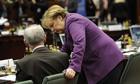 Herman Van Rompuy and Angela Merkel