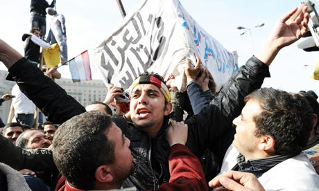 Egyptians gather in Cairo's Tahrir Square