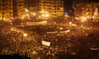 The scene in Tahrir Square earlier this evening