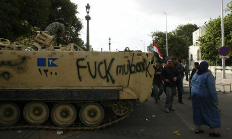 Egyptian army tank in Cairo