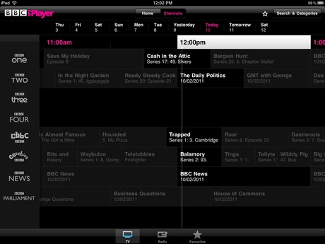 BBC iPlayer iPad app 2