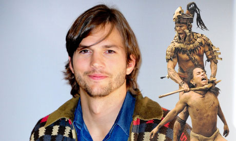 Ashton Kutcher and how he possibly imagines a Mayan apocalypse a scene
