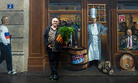 "Bill Buford photographed with ""Paul Bocuse"" in Lyon"