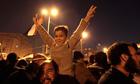 Anti-government protesters celebrate inside Tahrir Sq