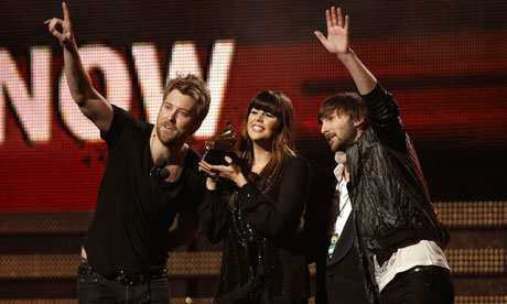 Lady Antebellum accept the Grammy award for best country album