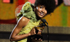 Esperanza Spalding accepts the Grammy award for best new artist