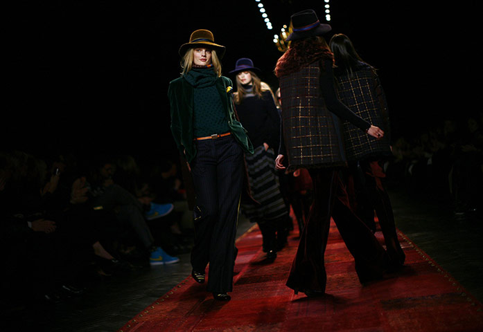 NY Fashion Week: Models present creations from the Tommy Hilfiger collection