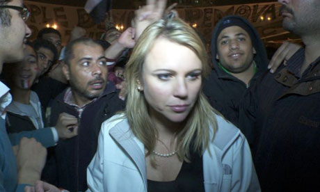 LARA LOGAN of CBS News, pictured in Cairos Tahrir Square shortly ...