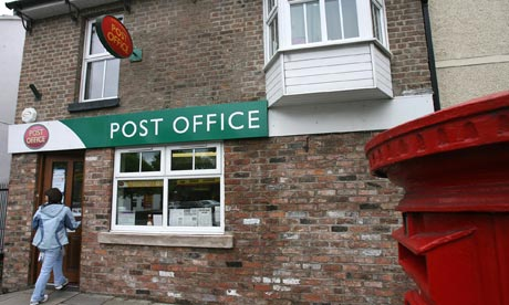 Cartoon Post Office Building Post office building
