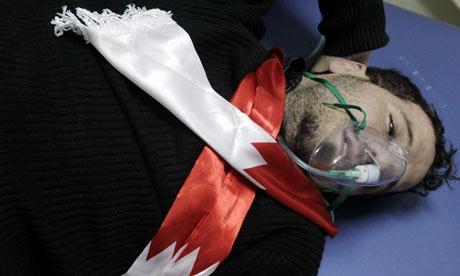 Wounded Bahraini demonstrator