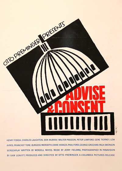 Saul Bass: Advice and Consent poster