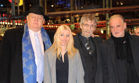 Béla Tarr and The Turin Horse cast members at the Berlin film festival